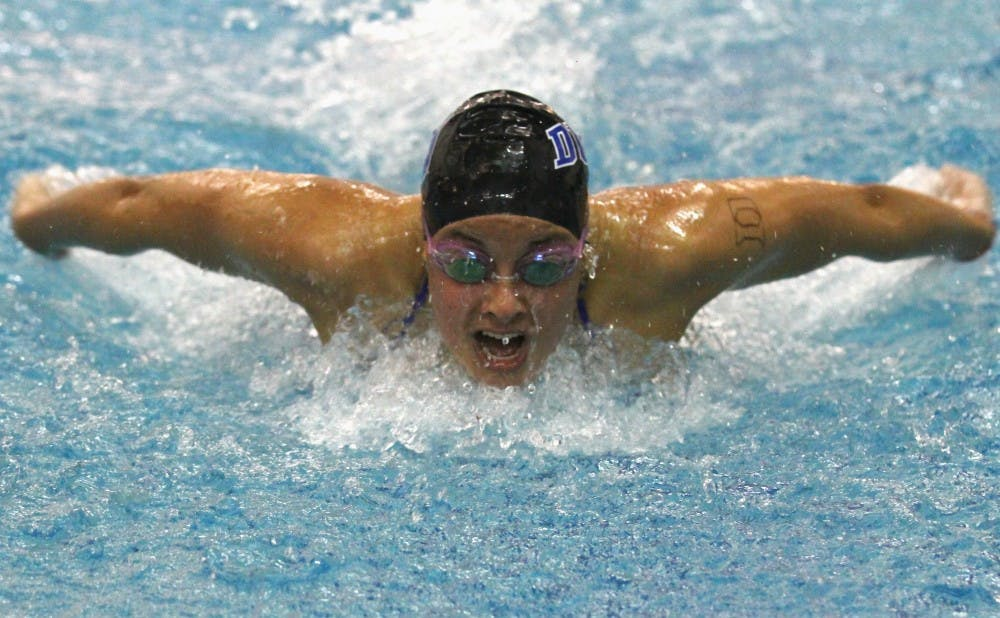 Duke took the meet's two opening relay races, but could not swim its way past South Carolina.