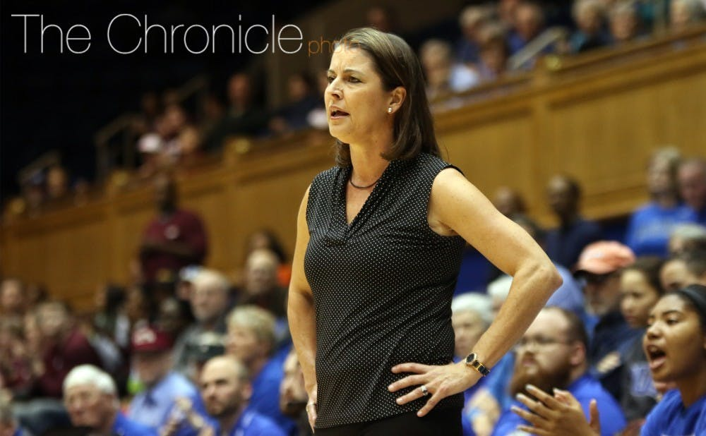 <p>Joanne P McCallie will have a different coaching staff this season.</p>