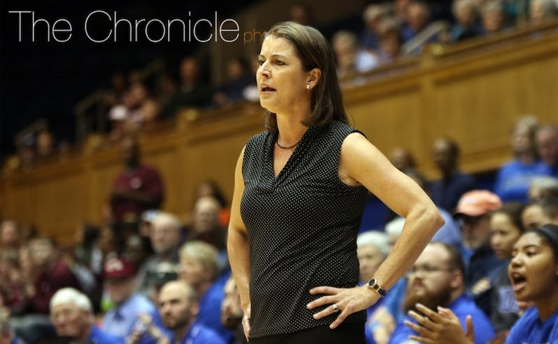 Joanne P McCallie will have a different coaching staff this season.
