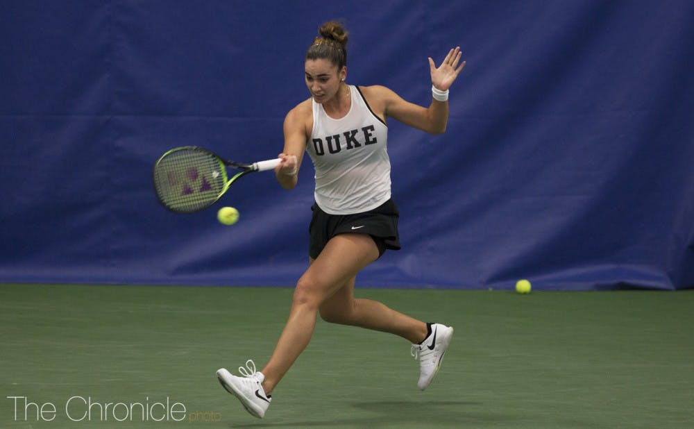 <p>Maria Mateas has been strong in her freshman season.</p>