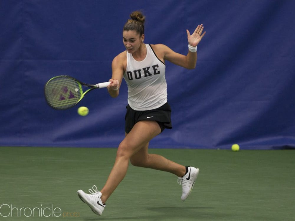 Maria Mateas has been strong in her freshman season.