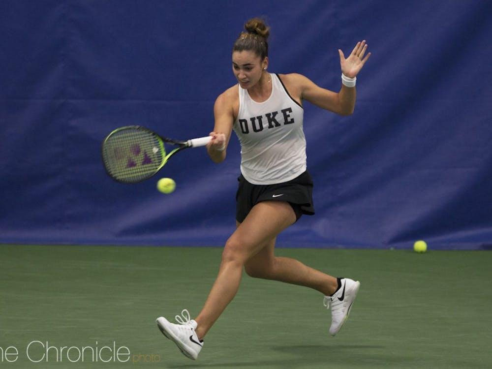 Maria Mateas has been strong in her freshman season.