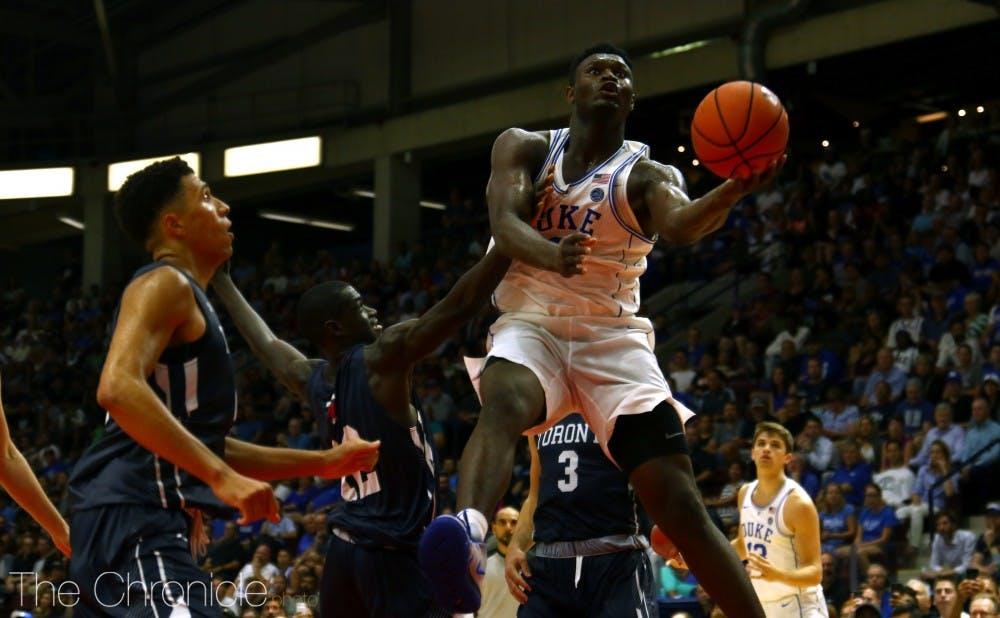 c8d8d3a3554 Zion Williamson shines again to cap Duke men's basketball's 'unbelievable'  Canada tour