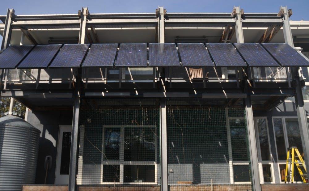 Duke's Smart Home has solar panels.