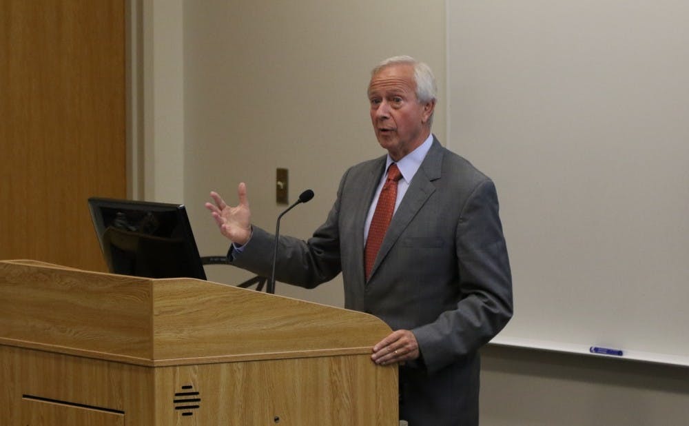 <p>President Richard&nbsp;Brodhead explained that the undergraduate degree program at DKU could be a&nbsp;valuable addition to China's educational system.</p>