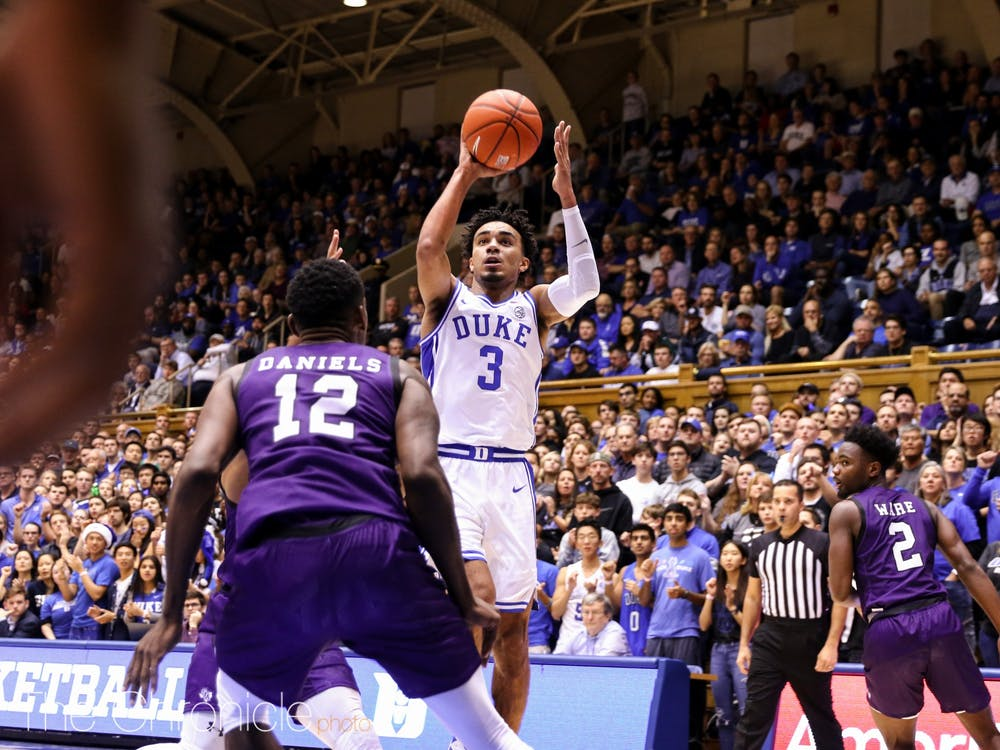 Tre Jones scored a double-double in the contest against the Lumberjacks