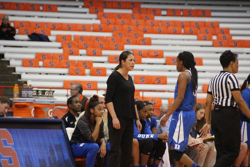 <p>Answers were not forthcoming for Duke head coach Joanne P. McCallie Sunday at the Carrier Dome.</p>
