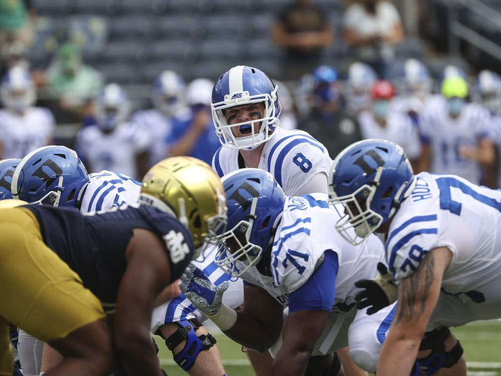 Pressure on the quarterback has been a problem for Duke all year, so losing both their starting and backup centers will be a real challenge over the remainder of the season.
