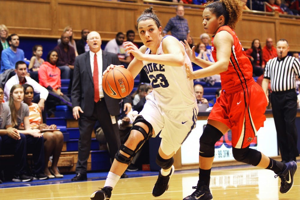 <p>Redshirt sophomore Rebecca Greenwell will get a chance to play in front of friends and family when the Owensboro, Ky., native leads the Blue Devils into Rupp Arena to battle the unbeaten Wildcats Sunday.</p>