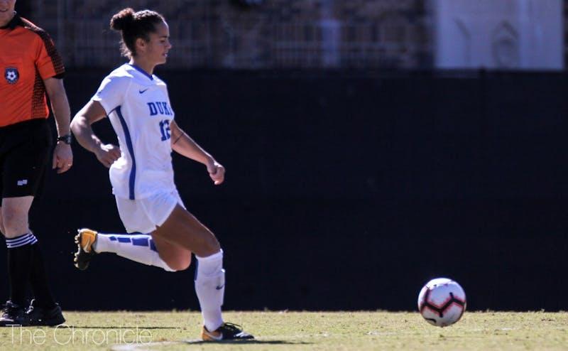 Kayla McCoy scored and assisted on Senior Day.