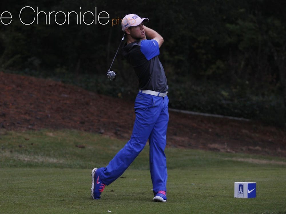 Max Greyserman paced the Blue Devils in their third event of the season and fired a 2-under-par 68 Tuesday.