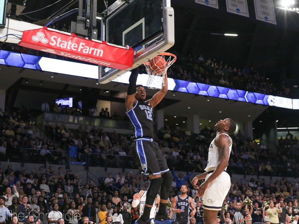 <p>Javin DeLaurier came up clutch in a scrappy contest against Georgia Tech.</p>