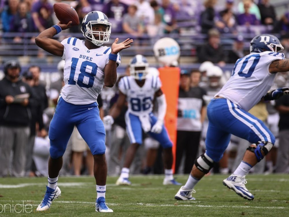 Quentin Harris will lead the Blue Devils against Alabama in just his third career start.