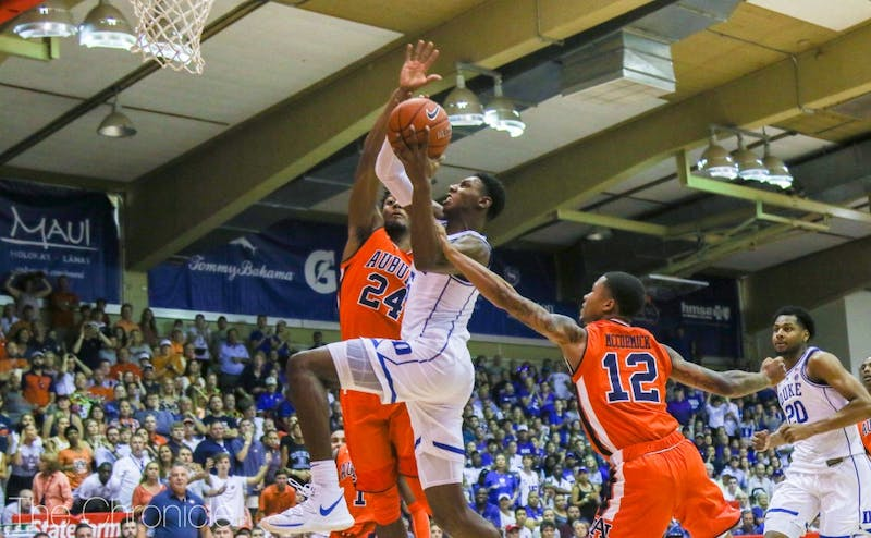 R.J. Barrett wasn't particularly efficient Tuesday, but led the way offensively yet again as Duke moved on to the Maui Invitational finals.