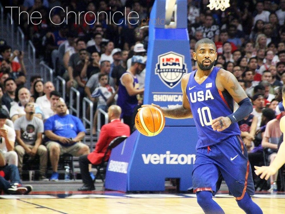 Kyrie Irving has been among the list of former Duke players to play sporadically this postseason.