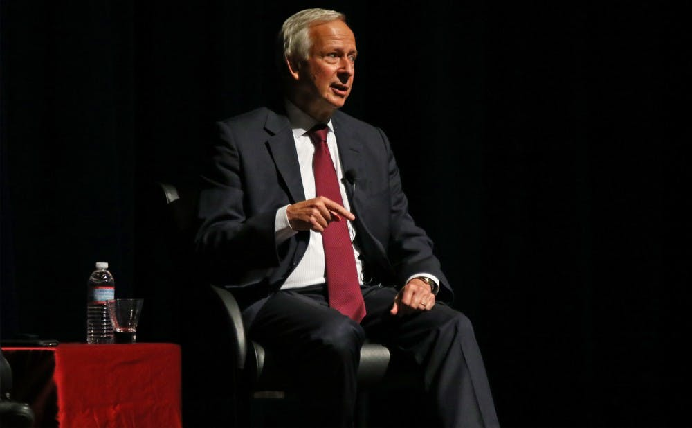 <p>President Richard Brodhead noted that Duke is always trying to strike a balance between the University experience and affordability.</p>