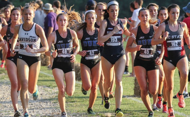 Michaela Reinhart and Amanda Beach have been Duke's first two runners to finish in all four meets.