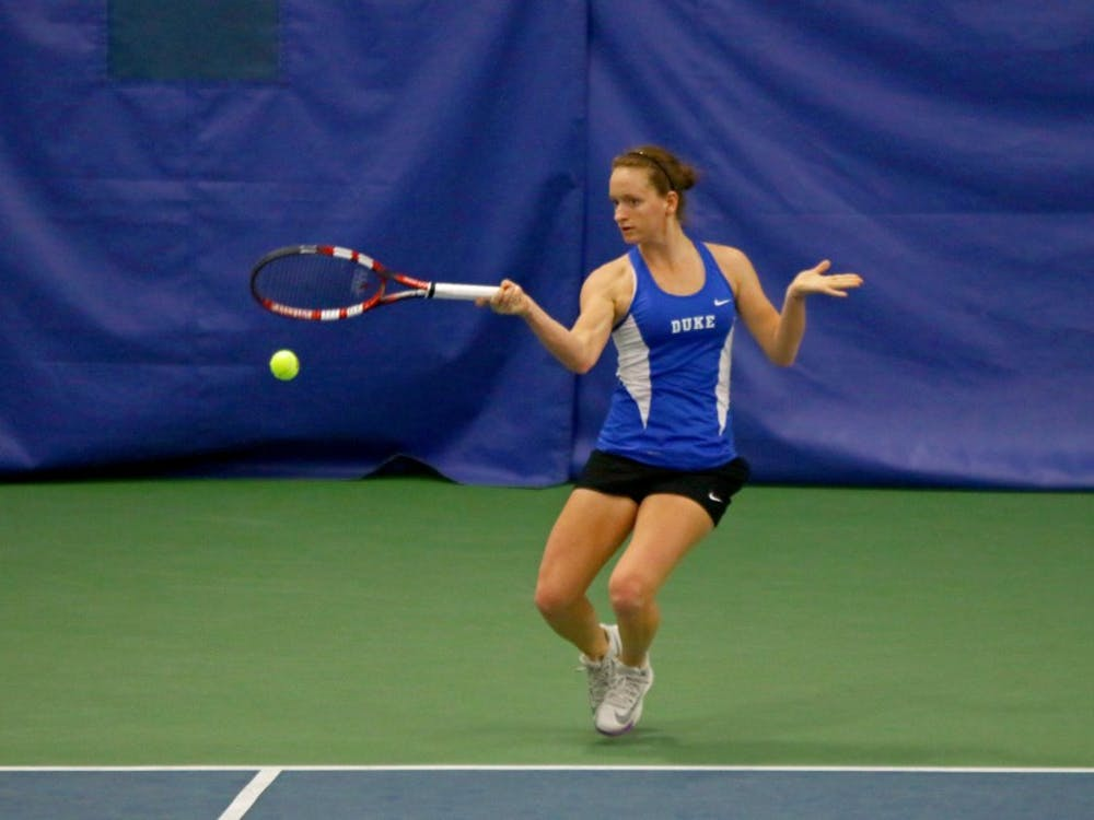 Junior Chalena Scholl has stepped up for the Blue Devils at the number three singles spot of late, opening her dual-match season with seven of her first eight contests.