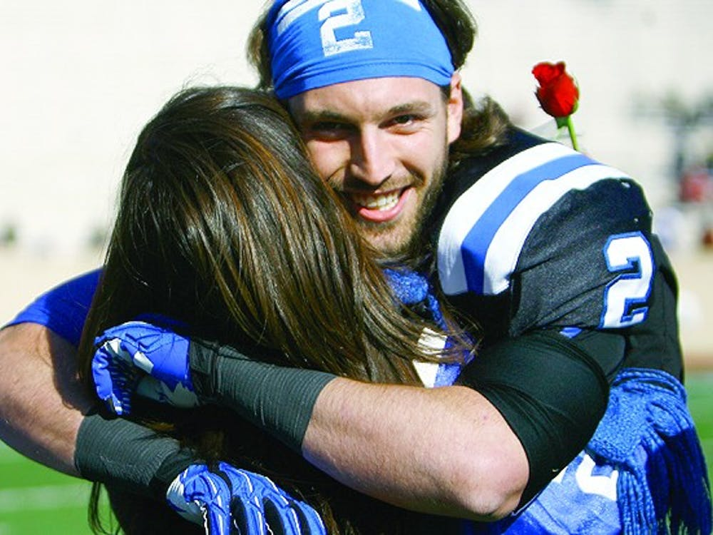 Duke's football team fell to Miami 52-45 in their regular season finale earlier today in Wallace Wade Stadium. Quarterback Sean Renfree threw for four touchdowns in the loss.