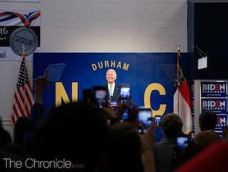 Joe Biden at Hillside High School on October 27, 2019.