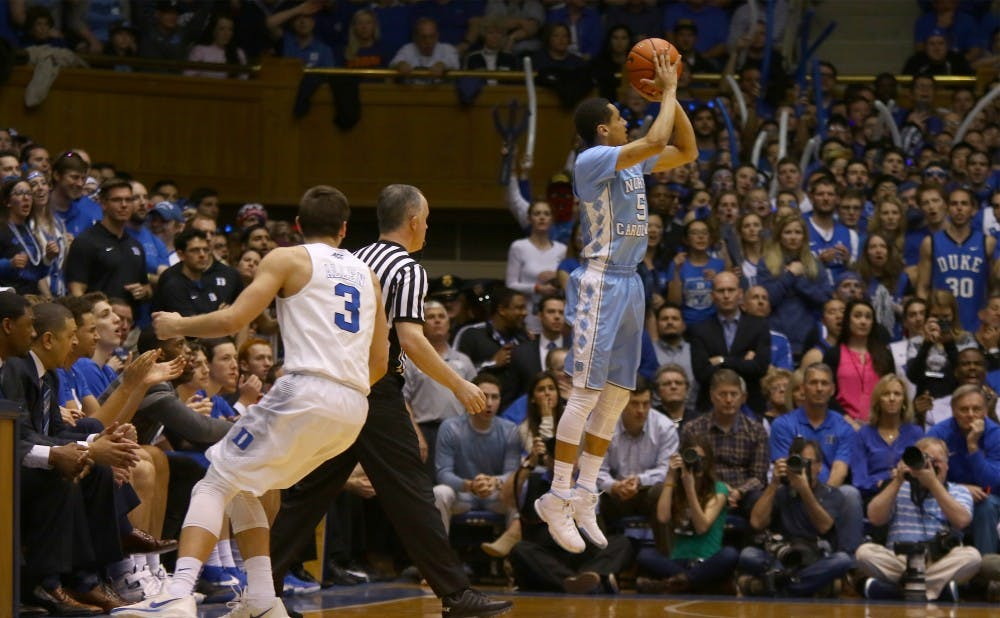 <p>Marcus Paige and his teammates were stunned by Kris Jenkins' buzzer-beating 3-pointer to win the national championship.</p>