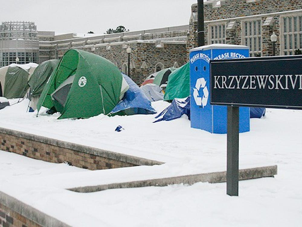 Some students said the social aspect of Krzyzewskiville this year was lacking after a snowstorm forced cancellations of several kickoff events, but added that tenting seemed easier this year compared to the past.