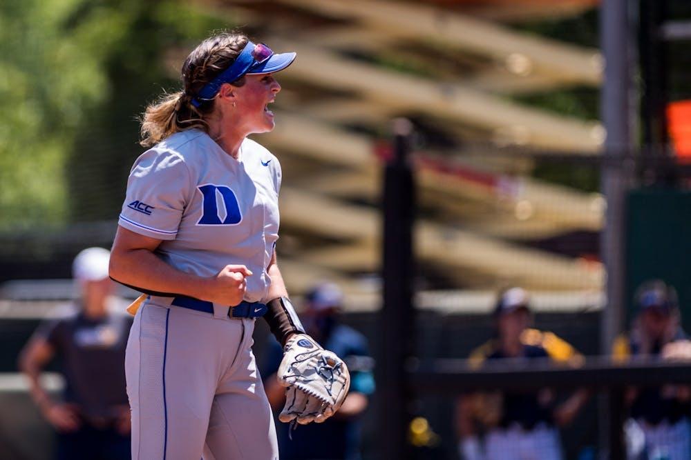 Junior Shelby Walters tossed 5.0 innings of scoreless softball in Duke's first NCAA tournament game.