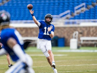 Graduate student Gunnar Holmberg is set to lead the Blue Devils' offense after appearing in just seven games prior to the 2021 season.