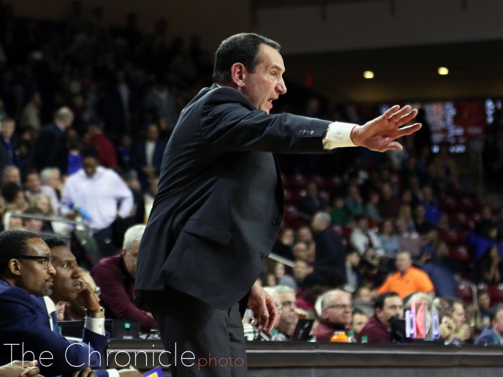 Mike Krzyzewski's squad is slated to be a No. 2 seed in next month's NCAA tournament.