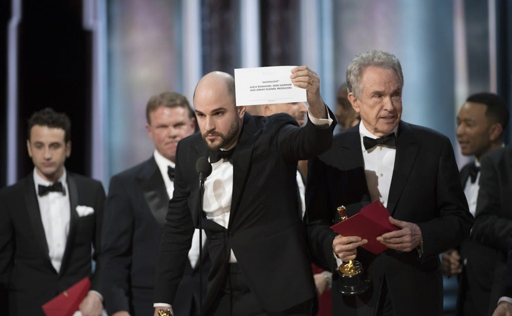 """<p>The biggest story of the 2017 awards season was """"Moonlight""""'s Academy Award for Best Picture after """"La La Land"""" was incorrectly announced as the winner.</p>"""