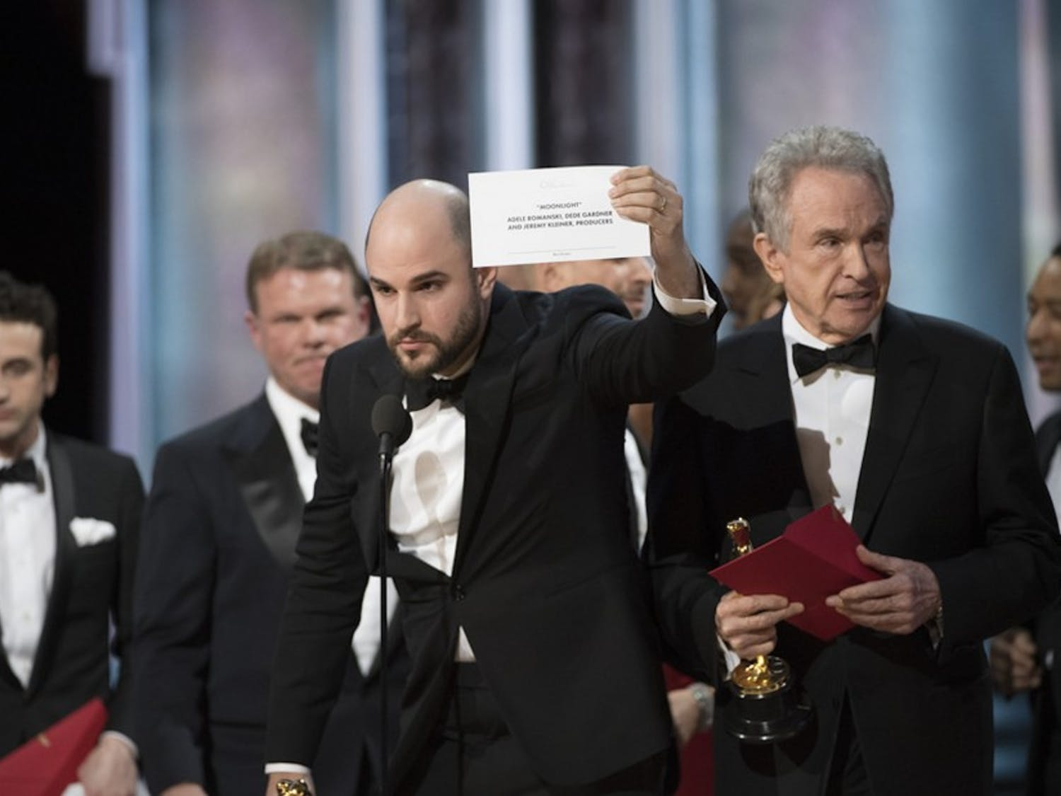 """The biggest story of the 2017 awards season was """"Moonlight""""'s Academy Award for Best Picture after """"La La Land"""" was incorrectly announced as the winner."""