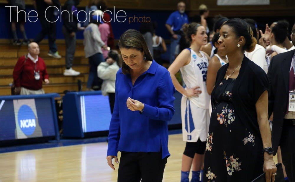 <p>With starting guard Kyra Lambert out, head coach Joanne P. McCallie's team never looked comfortable on its way to its first home loss of the year.</p>
