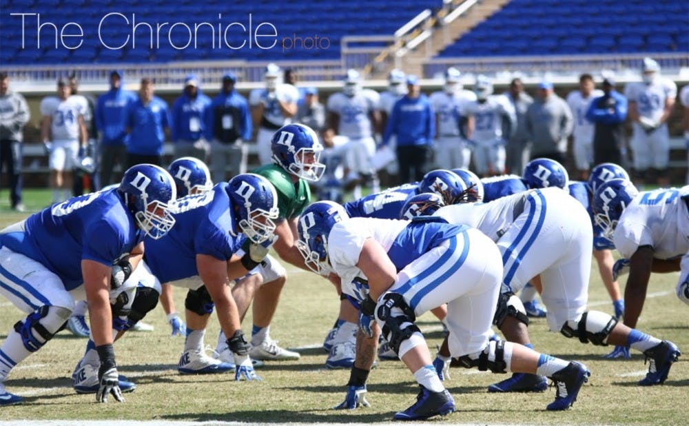 <p>Duke returns three starters from a successful offensive line in 2015, but will have to replace first-team All-ACC center and co-captain Matt Skura</p>