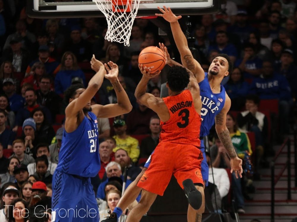 Duke contained Florida's guards and held the Gators to just 10 points in the last 10 minutes.