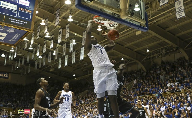 Zion Williamson's slashing ability could help Duke improve its half-court offensive sets against Hartford.