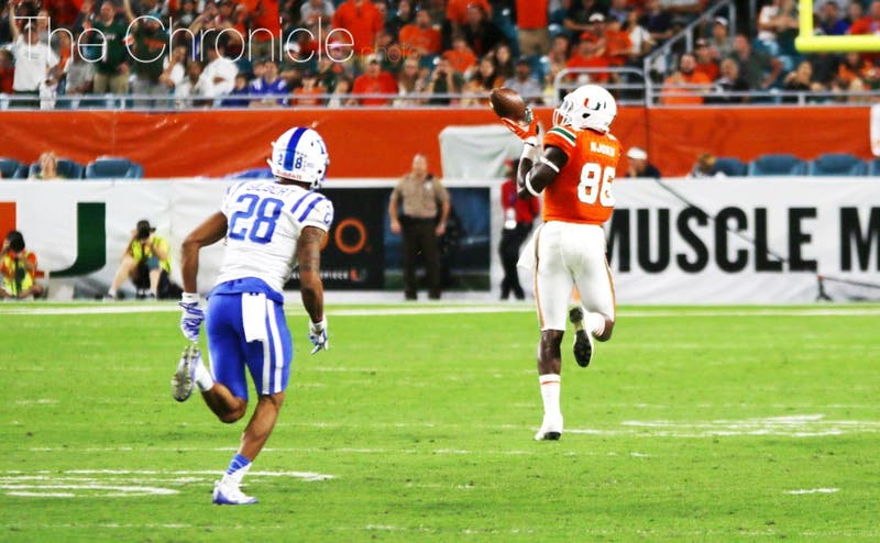 The Duke defense allowed several big plays in the passing game that broke Saturday's game open. Miami quarterback Brad Kaaya finished with 396 yards and four touchdowns.