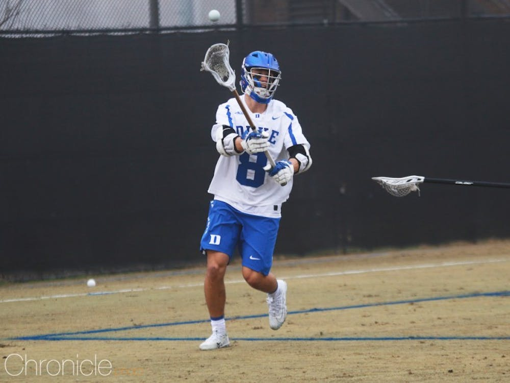 Sophomore Joe Robertson dominated the faceoff X in Duke's victory against Jacksonville.