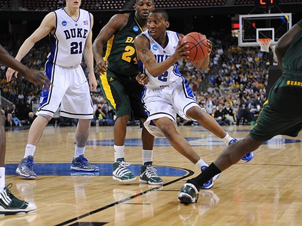 Junior Nolan Smith was able to penetrate the Baylor zone over and over, and that incisiveness created space for him and his perimeter-oriented teammates to either drive in or pull the trigger from outside.