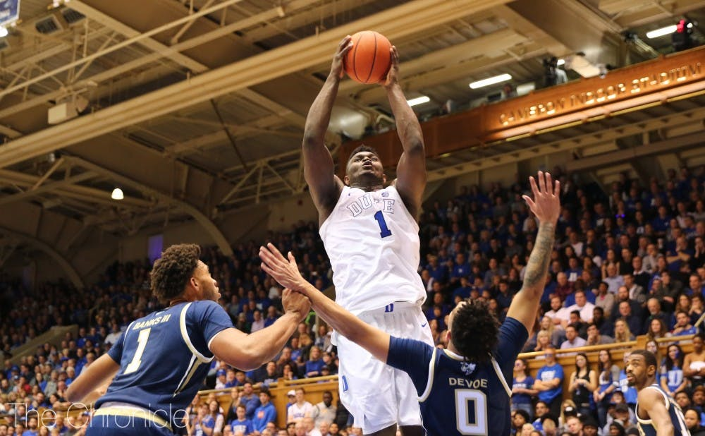 <p>Zion Williamson has spearheaded Duke's offense all through conference play.</p>