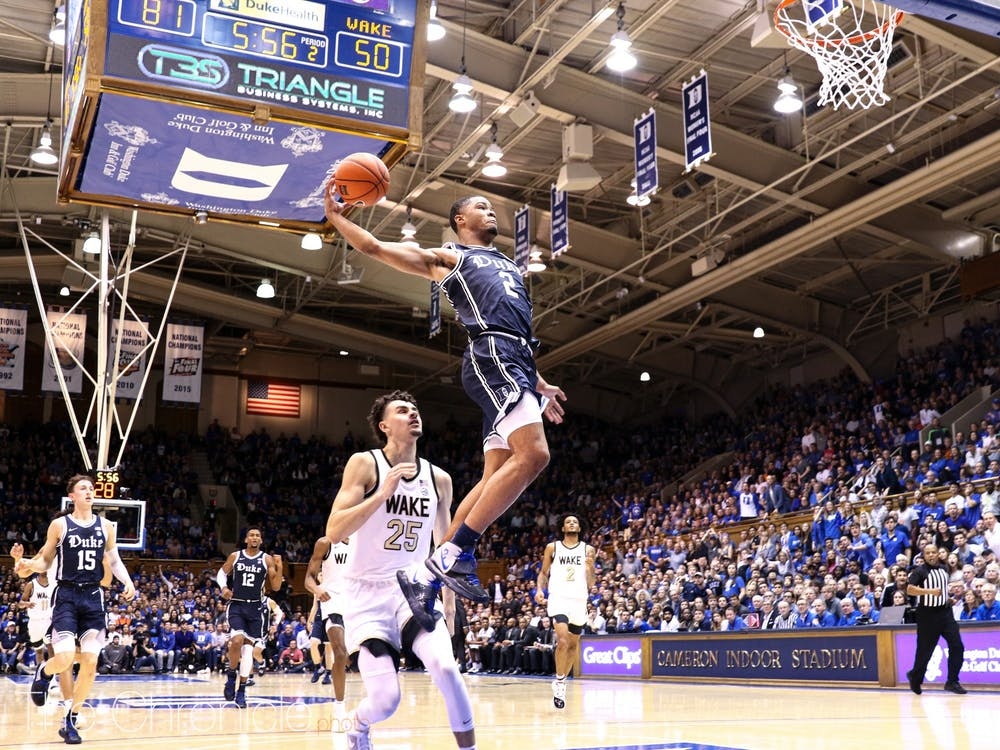 <p>The Blue Devils had their way against Wake Forest Saturday night.</p>