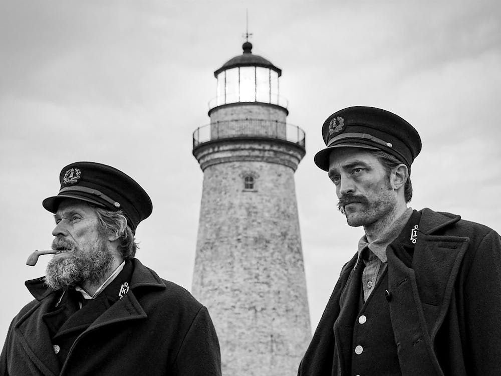 """""""The Lighthouse"""" is a tempest in a bottle, a carefully calibrated psychological thriller posing as if it is out of control."""