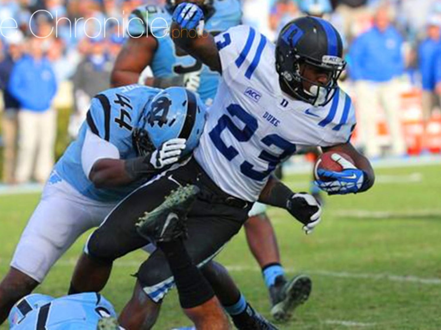 Former Duke running back Juwan Thompson will suit up for the Denver Broncos in the Super Bowl this Sunday against the Carolina Panthers.