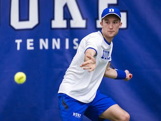 Andrew Dale, the No. 2 recruit in the Class of 2020, made his debut for Duke men's tennis.