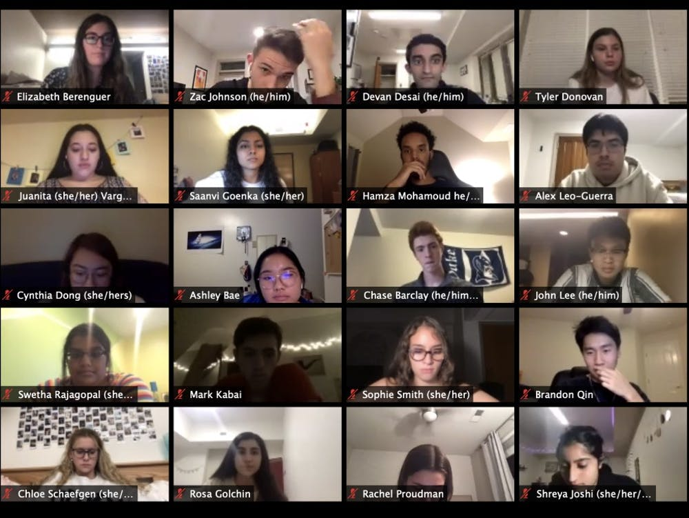 <p>At their Sept. 23 meeting, DSG senators heard an update from Mary Pat McMahon, vice provost and vice president of student affairs, and Chris Rossi, assistant vice president of students affairs for strategic engagement, on COVID-19's impact on students.</p>