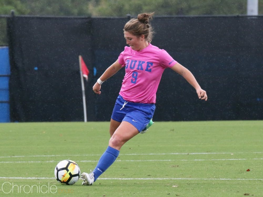 Junior Kat McDonald drilled a shot off the goalkeeper's arms and into the back of the net in the 87th minute.