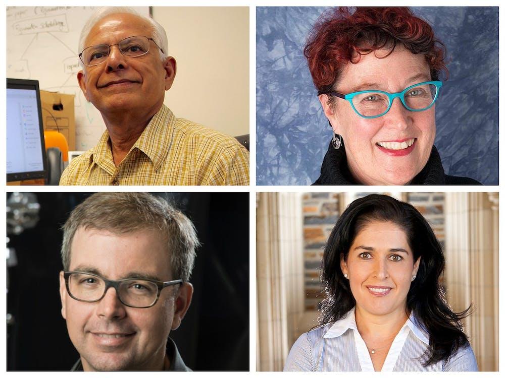 <p>From top right, going clockwise: Kishor Trivedi, Terrie Moffitt, Jen'nan Read, Kenneth Brown</p>