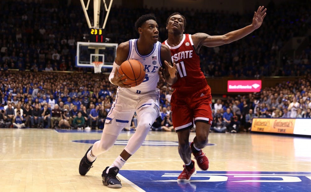 <p>R.J. Barrett has become more efficient in the last few games.</p>