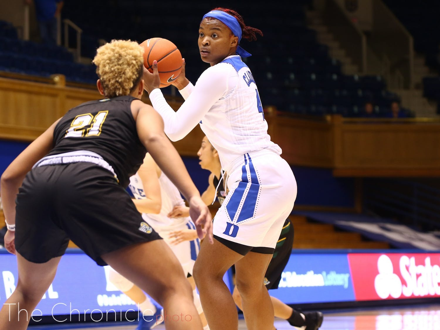 Jada Claude consistently uses her hustle and defense to make an impact on games, racking up nine steals last season while only averaging 9.7 minutes per game.