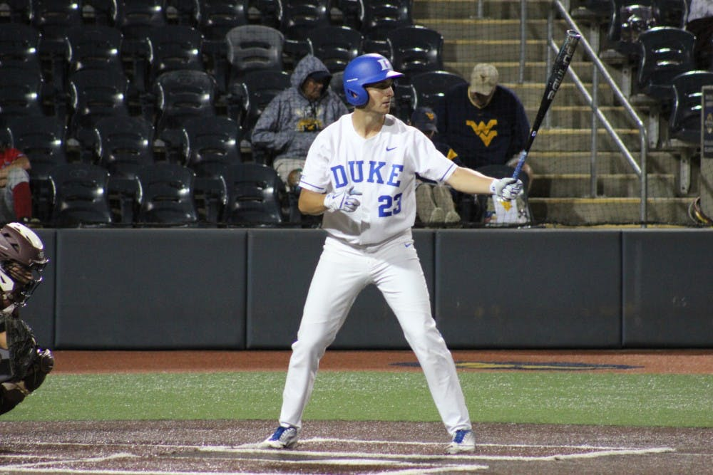 <p>Kyle Gallagher's drove in all four of Duke's runs Sunday night.</p>