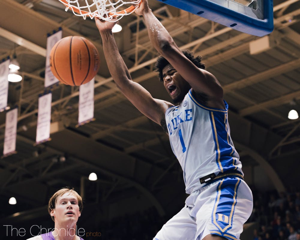 <p>Vernon Carey Jr. built off a dominant weekend in the Blue Devils' return to Cameron.</p>